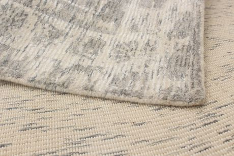 "Hand loomed Galleria Grey Silk Rug 5'0"" x 8'0"" - image 3 of 6"