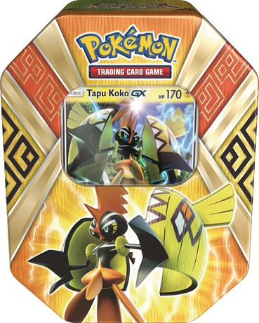 pokemon island guardians summer 2017 tin tapu koko trading card game