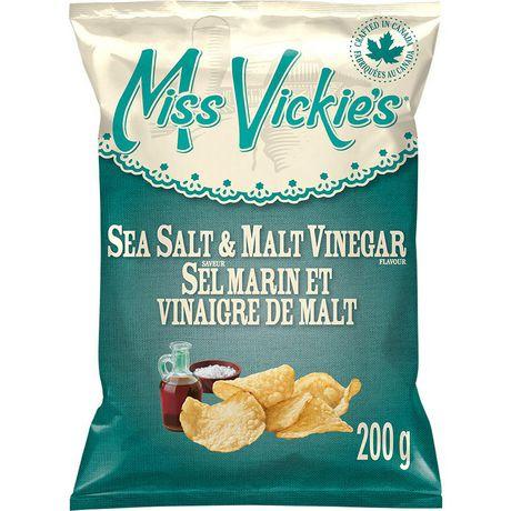Miss Vickie's Sea Salt & Malt Vinegar Kettle Cooked Potato Chips - image 1 of 6