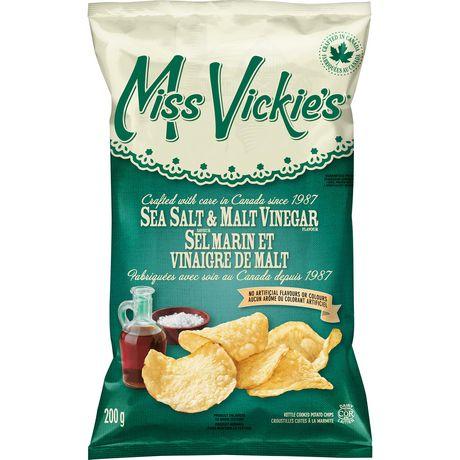 Miss Vickie's Sea Salt & Malt Vinegar Kettle Cooked Potato Chips - image 2 of 6
