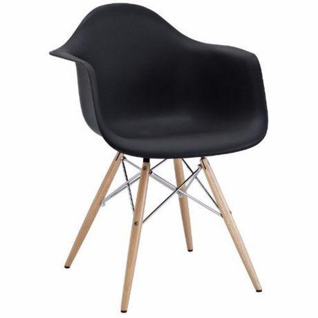 Chaise Eames Dar De Nicer Furniture A Jambes En Bois Et Noir
