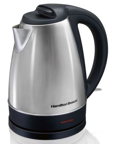 hamilton beach 1 7 l cordless stainless steel kettle walmart canada