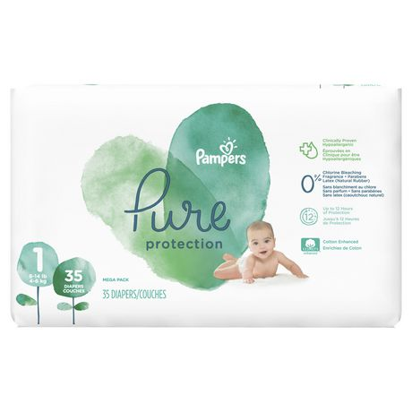 Pampers Pure Protection Diapers - Mega Pack - image 1 of 6