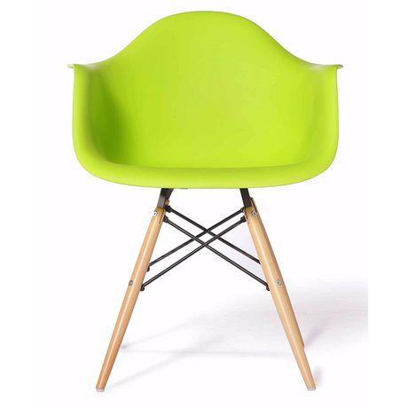 Chaise Eames Dar De Nicer Furniture A Jambes En Bois Et Vert