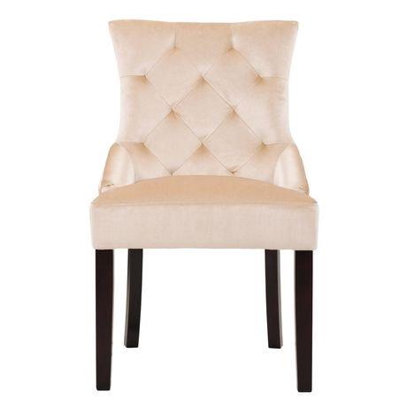 Corliving Antonio Set Of 2 Soft Beige Velvet Accent Chair