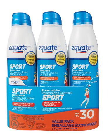 Equate Value Pack Sport Sunscreen Continuous Spray Spf 30 - image 1 of 1