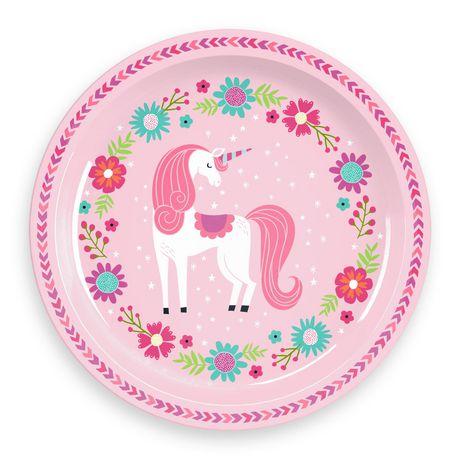 Mainstays Kids Round Plate - Unicorn - image 1 of 1