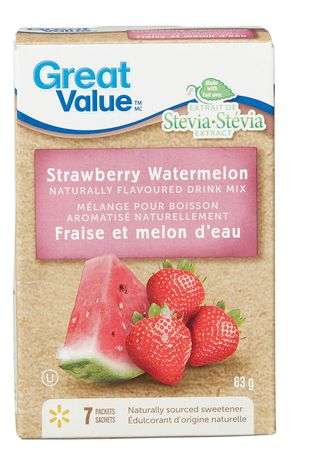 Great Value Strawberry Watermelon Naturally Flavoured Drink Mix - image 1 of 2