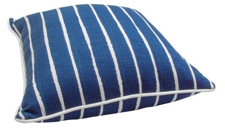 hometrends Blue Stripe Outdoor/Indoor Toss Cushion - image 2 of 2