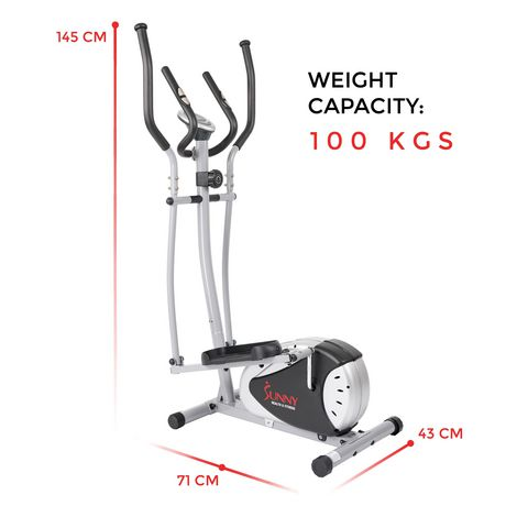 Sunny Health & Fitness SF-E905 Magnetic Elliptical Trainer - image 8 of 8