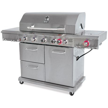 Backyard Grill Stainless Steel 6 Burner Propane Gas Grill ...