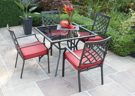 montclair 5 piece cushioned dining set 1 table and 4 chairs by