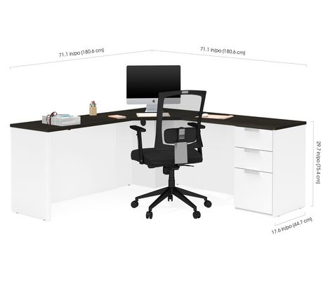Bureau en coin Pro-Concept Plus de Bestar - image 3 de 3