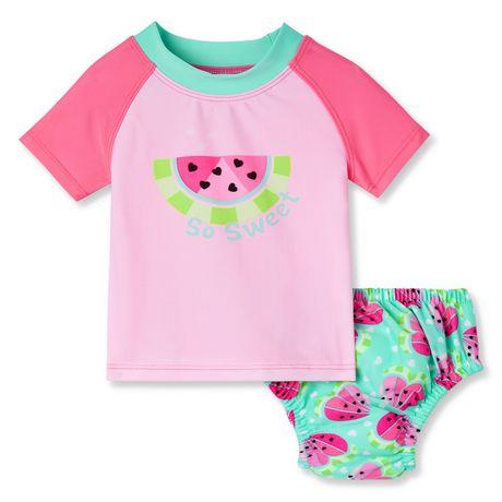 style de mode nouvelles promotions Beau design Ensemble maillot de bain avec couche George pour bébés filles
