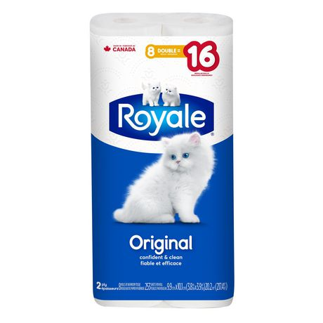 ROYALE® Original Bathroom Tissue, Double Rolls, 8=16 Rolls, 2 Ply Toilet Paper, 253 Sheets per Roll (2,024 Total) - image 2 of 6