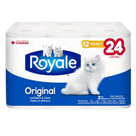 ROYALE® Original Bathroom Tissue, Double Rolls, 12=24 Rolls, 2 Ply Toilet Paper, 253 Sheets/Roll (3,036 Total) - image 2 of 6