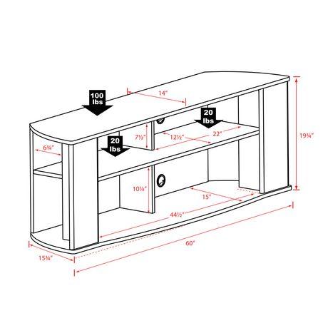 Prepac Essentials 60-inch Black TV Stand - image 5 of 5