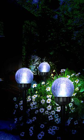 hometrends Solar Cracked Glass Ball Lamp - image 2 of 5