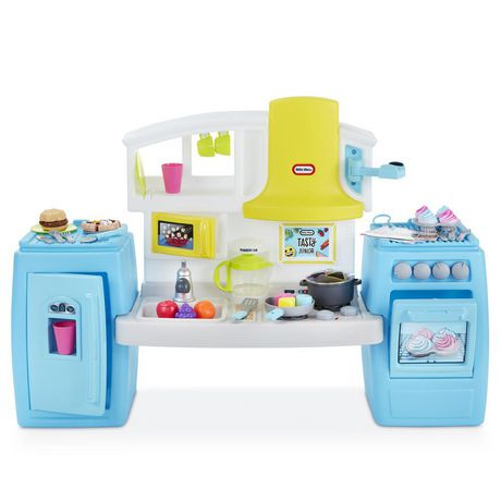 Blue and white Tasty Jr Bake n Share Kitchen from Little Tikes