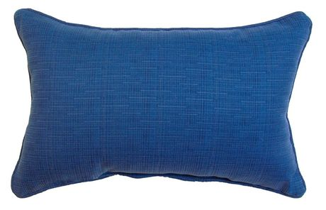 hometrends White and Blue Stripe Outdoor/Indoor Toss Cushion - image 2 of 3