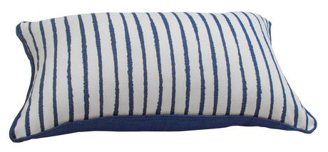hometrends White and Blue Stripe Outdoor/Indoor Toss Cushion - image 3 of 3