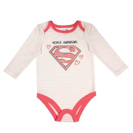 cache couche manches longues mom 39 s supergirl pour b b s filles walmart canada. Black Bedroom Furniture Sets. Home Design Ideas