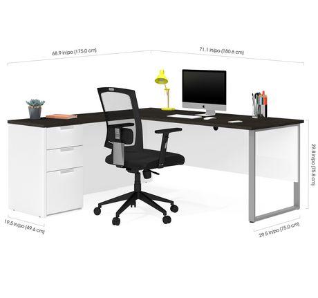 Bestar Pro-Concept plus L-Desk with Metal Leg - image 3 of 3