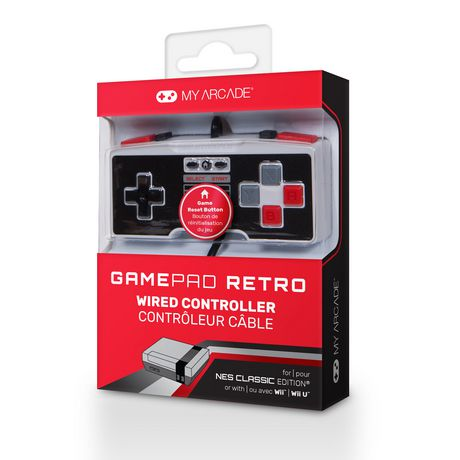 GAMEPAD RETROCLASSIC WIRED CONTROLLER FOR THE NES CLASSIC EDITION - image 1 de 1