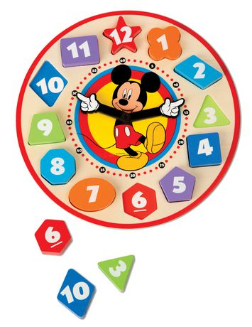 Melissa Amp Doug Mickey Mouse Wooden Shape Sorting Clock