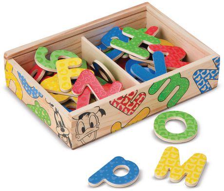 Melissa Amp Doug Disney Wooden Letter Alphabet Magnets