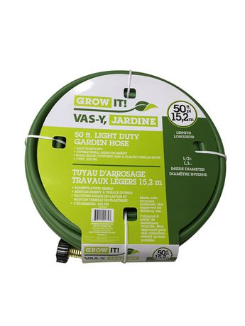 walmart grow it 50ft 58 light duty 3 ply garden hose 997 medium duty 4 ply 1499 online only - Walmart Garden Hose