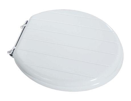 white beadboard wood toilet seat