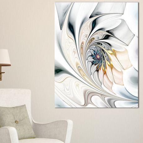 Tableau Mural Sur Toile Imprimée Design Art Verre Blanc Florale