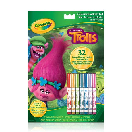 crayola trolls colouring and activity pad walmart canada