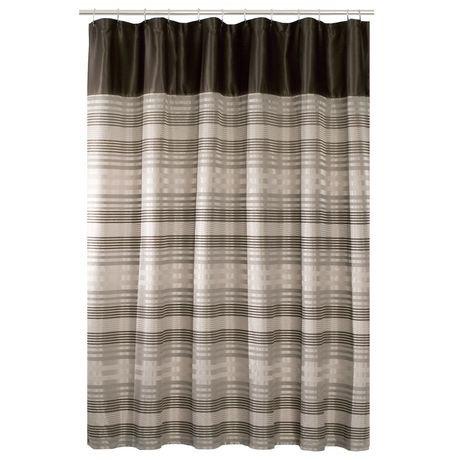 Rideau de douche en tissu blake de hometrends avec for Rideau de douche en tissu