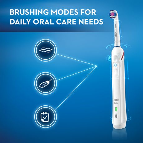 Oral-B PRO 3000 Power Rechargeable Electric Toothbrush with Bluetooth Connectivity Powered by Braun - image 3 of 9