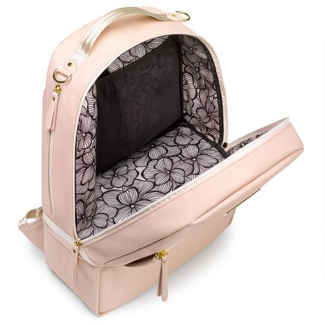 Petunia Pickle Bottom Axis Diaper Bag Backpack w Changing Pad Blush Leatherette