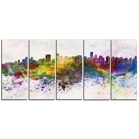 Design Art Vancouver Skyline Canvas Print - image 1 of 3