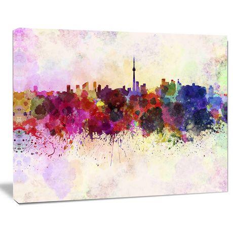 Design Art Toronto Skyline Canvas Print - image 1 of 3