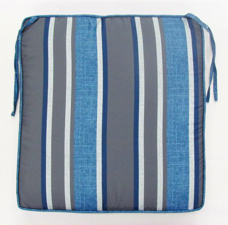 hometrends Blue/Grey Stripe Seat Cushion - image 2 of 2
