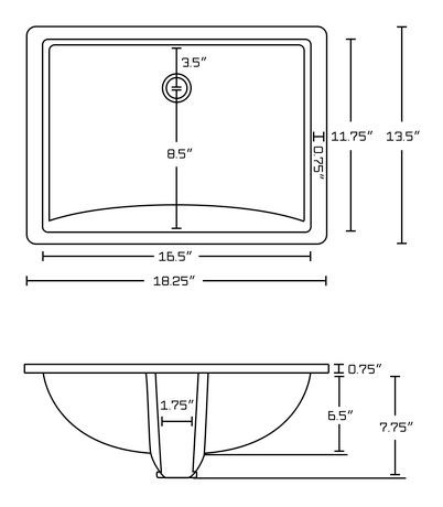 American Imaginations 18.25-in. W Undermount Sink Set White - image 2 of 8