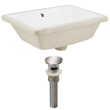 American Imaginations 18.25-in. W Undermount Sink Set White - image 1 of 8