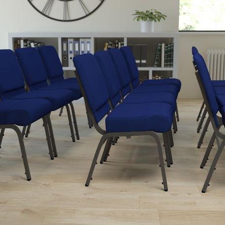 chaise d glise empilable de la collection hercules de flash furniture en tissu marine walmart. Black Bedroom Furniture Sets. Home Design Ideas