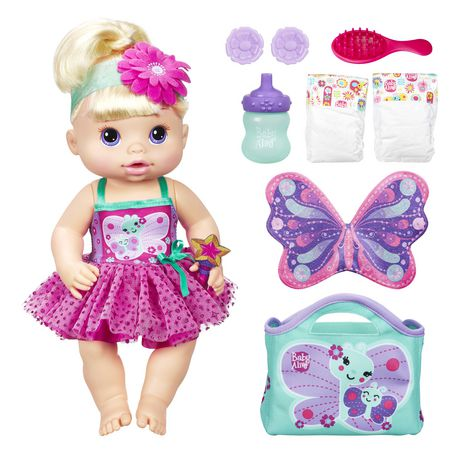 Baby Alive Twinkle Fairy Baby Doll Blonde Playset