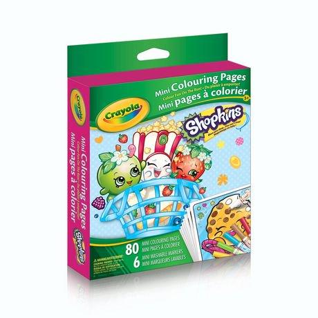 crayola mini coloring pages - crayola shopkins mini colouring pages walmart canada