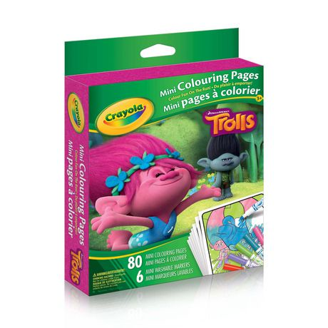 crayola trolls mini colouring pages walmart canada