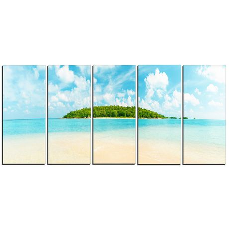 design art tropical island panorama canvas print | walmart canada
