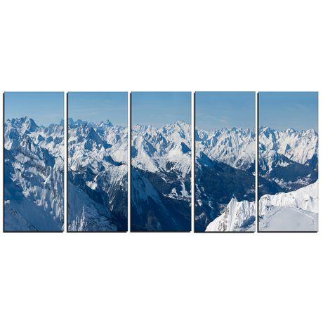 Design Art Panorama Des Alpes Français  Art Sur Toile - image 1 de 3
