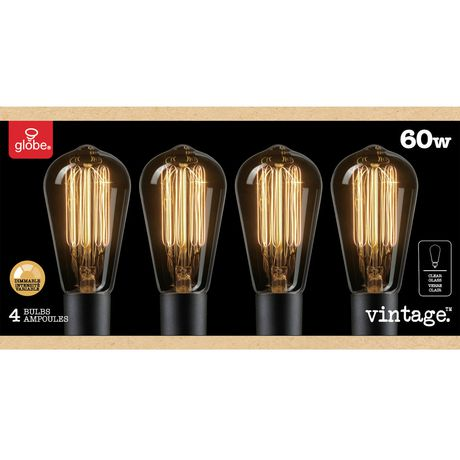 3314ed3fe7a 60W Vintage Edison S60 Squirrel Cage Incandescent Filament Light Bulb  4-Pack