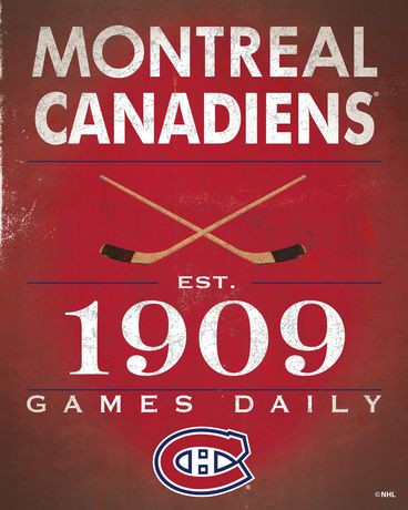 Nhl Montreal Canadiens Vintage Sign Canvas Walmart Canada